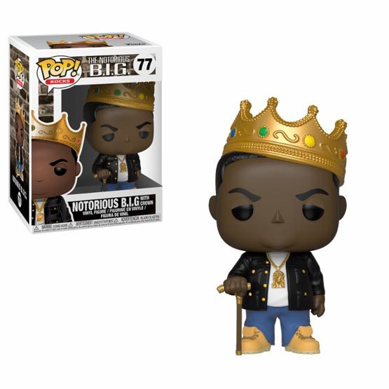 #077 - Notorious B.I.G. - Notorious B.I.G. with crown | Popito.fr