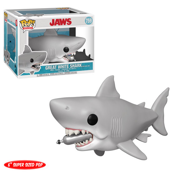 #759 - Jaws - Great White Shark with Diving Tank | Popito.fr