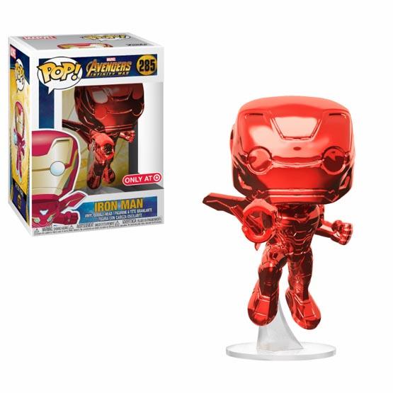 #285 - Avengers: Infinity War - Iron Man (flying) (red chrome) | Popito.fr