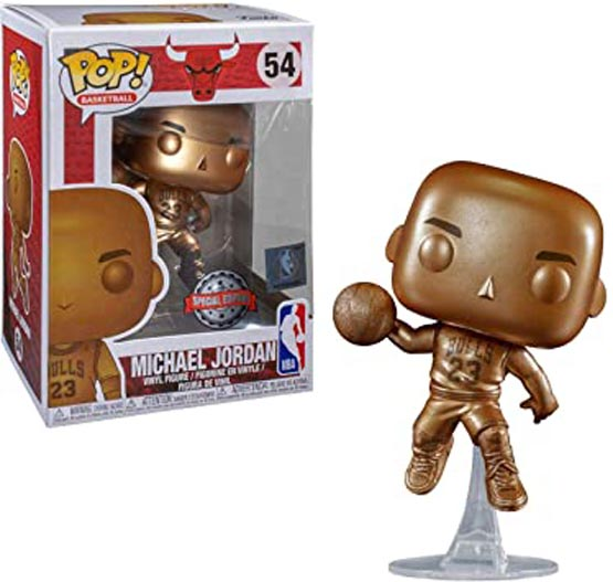 #054 - NBA - Chicago Bulls - Michael Jordan (bronze) | Popito.fr