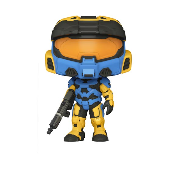 #015 - Halo - Spartan Mark VII with VK78 commando rifle (blue and yellow) | Popito.fr