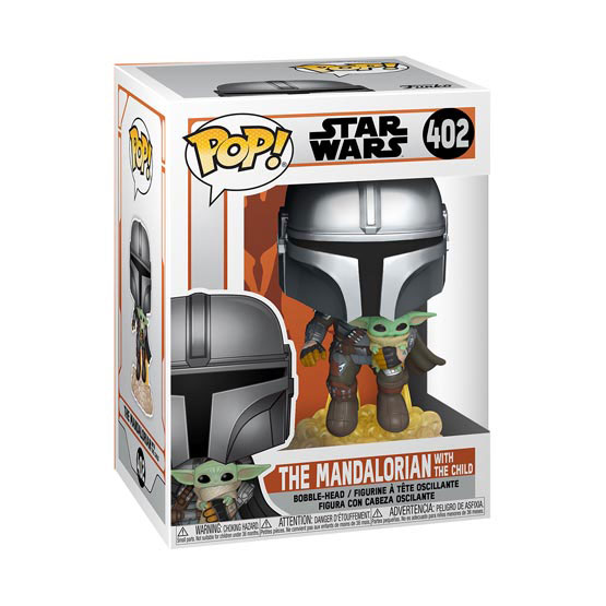 #402 - The Mandalorian - The Mandalorian with The Child (jetpack) (Baby Yoda) | Popito.fr