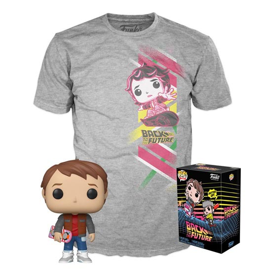 Box - T-shirt - #964 - Back to the Future - Marty with hoverboard | Popito.fr